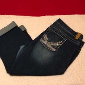 Maurice's cropped jeans, size 16